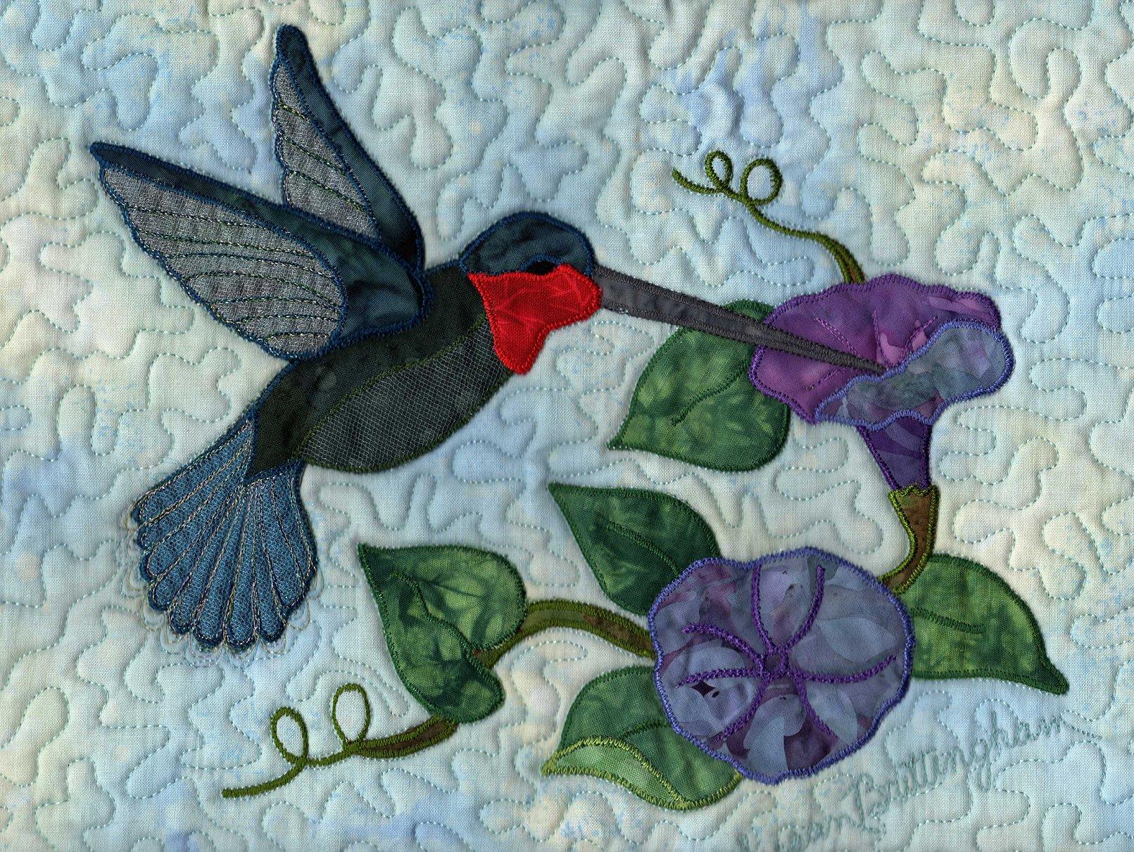 Upside Down Applique | Making Modern Memories : hummingbird quilts - Adamdwight.com